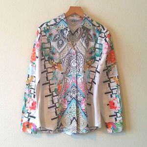 Etro floral cotton shirt